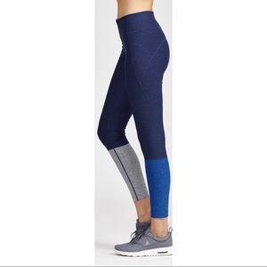 Outdoor Voices Dipped Navy Leggings